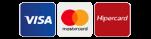 Cartões de crédito aceitos para compras on-line.
